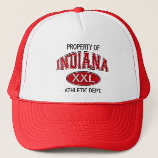 PROPERTY OF INDIANA ATHLETIC DEPT TRUCKER HAT