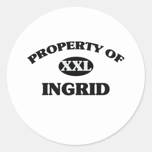 Property of INGRID Round Sticker