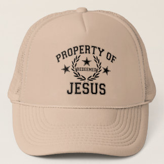 PROPERTY OF JESUS TRUCKER HAT