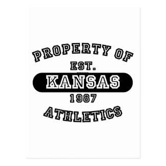 Property of Kansas shirts Postcard
