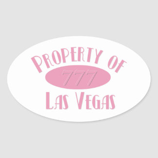 Property of Las Vegas Oval Sticker