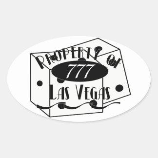 Property of Las Vegas Oval Sticker