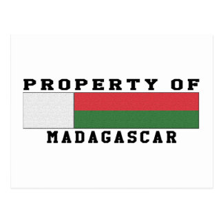 Property Of Madagascar Postcard