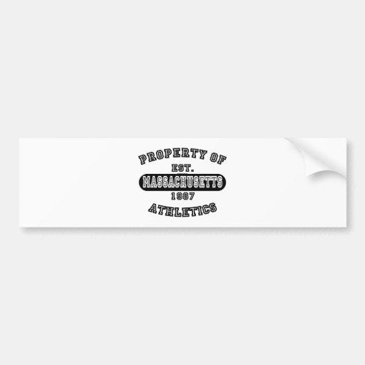 Property of Massachusetts shirts Bumper Sticker