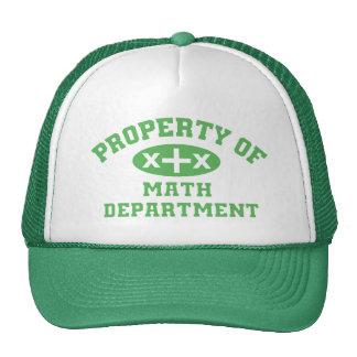 Property Of Math Department (green) Cap