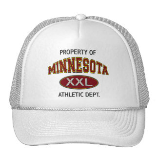 PROPERTY OF MINNESOTA ATHLETIC DEPT MESH HATS