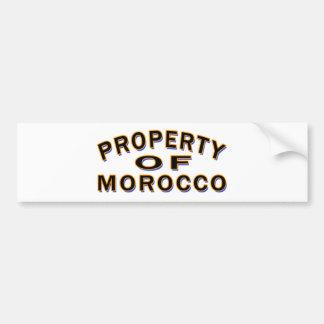 Property Of Morocco. Bumper Sticker
