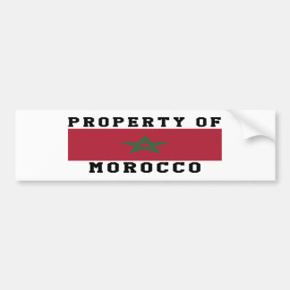Property Of Morocco Bumper Stickers