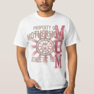 Property of Motherhood Athletic dept. Mom T-Shirts