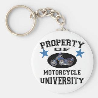 Property Of Motorcycle University Basic Round Button Key Ring