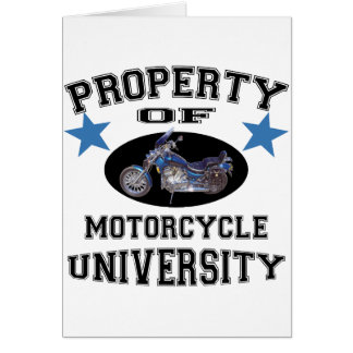 Property Of Motorcycle University Greeting Card