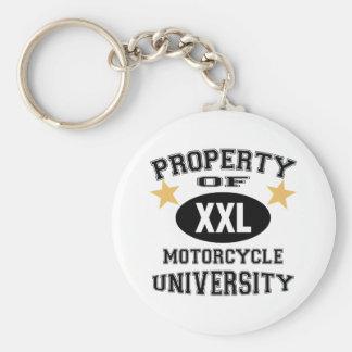 Property Of Motorcycle University Key Chains