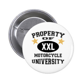 Property Of Motorcycle University Pinback Button