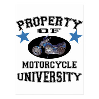 Property Of Motorcycle University Postcard