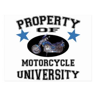 Property Of Motorcycle University Postcard