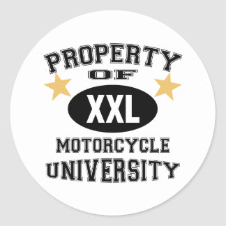 Property Of Motorcycle University Round Sticker
