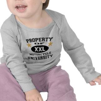 Property Of Motorcycle University Tshirts