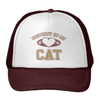Property of My Cat Collegiate Trucker Hats