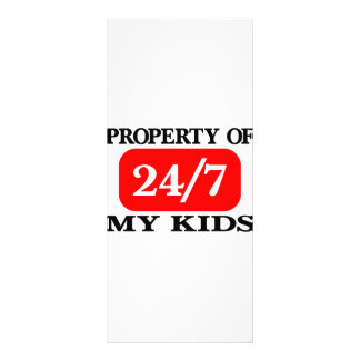 Property Of My Kids 24 7 Full Color Rack Card