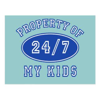 Property of My Kids 24/7 Tshirts, Hoodies Postcard