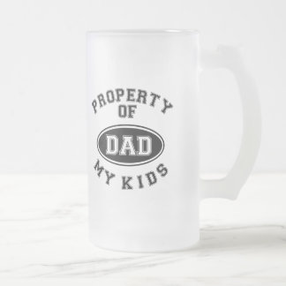 Property Of My Kids Father's Day Frosted Mug