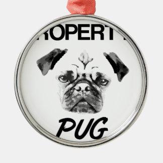 Property of my Pug Christmas Ornament