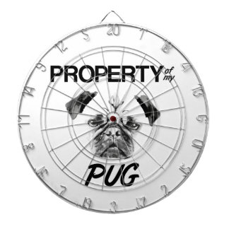 Property of my Pug Dartboard