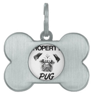 Property of my Pug Pet ID Tag