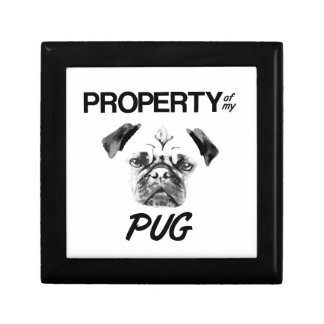 Property of my Pug Small Square Gift Box