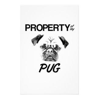 Property of my Pug Stationery