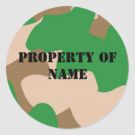Property of name Label Sticker