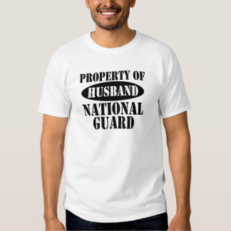 Property of National Guard Husband Tshirts