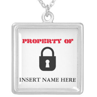 Property of...necklace pendant