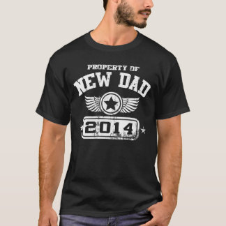 Property Of New Dad 2014 (White) T-Shirt