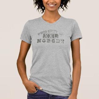 Property of Nobody Libertarian T-shirt