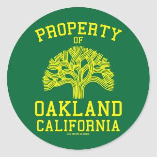 Property of Oakland Round Sticker