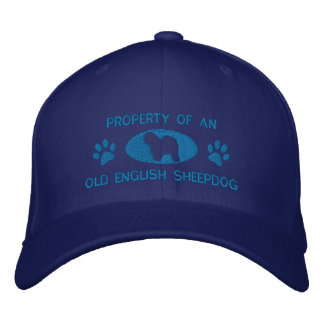 Property of Old English Sheepdog Embroidered Hat