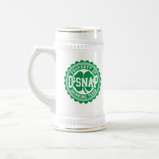 Property of O'snap Irish Drinking Team Beer Steins