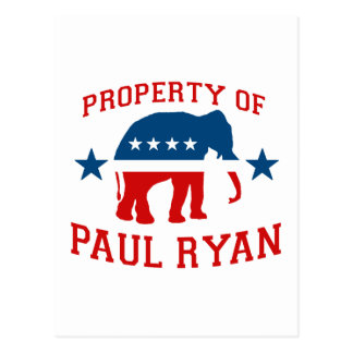 PROPERTY OF PAUL RYAN POST CARDS