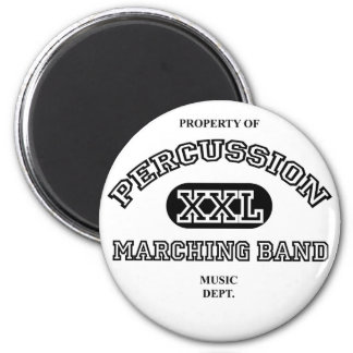 Property of Percussion 6 Cm Round Magnet