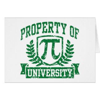 Property of Pi University Card