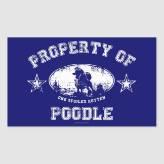 Property of Poodle Rectangle Sticker