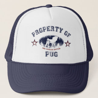 Property Of Pug Trucker Hat
