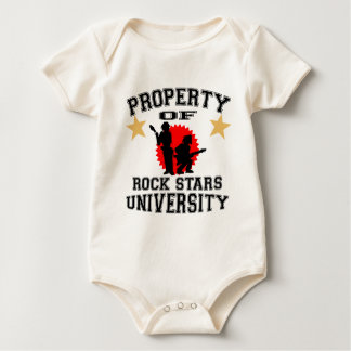 Property Of Rock Star University Baby Bodysuit