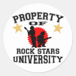 Property Of Rock Star University Classic Round Sticker