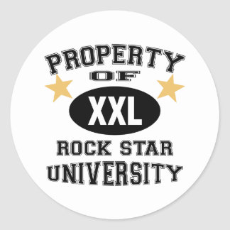 Property Of Rock Star University Round Sticker