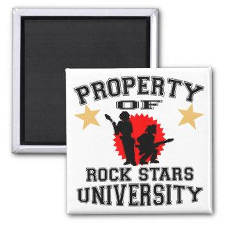 Property Of Rock Star University Square Magnet