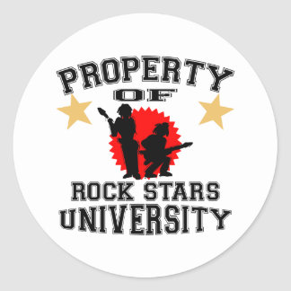 Property Of Rock Star University Classic Round Sticker