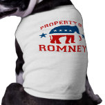PROPERTY OF ROMNEY PET T SHIRT