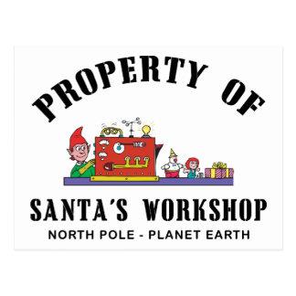 Property of Santa's Workshop Gift Postcard